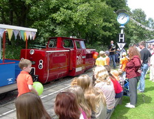 picture: Locomotiveparade to the railway festival every vear in the summer in Crispendorf, Thuringia